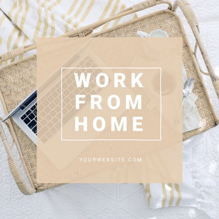 work from home blog graphic template easil. Black Bedroom Furniture Sets. Home Design Ideas