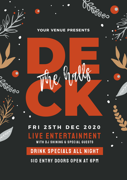 Deck the Halls Christmas Event Template