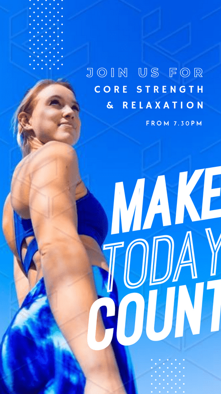 Make Today Count - Personal Trainer Graphic Template