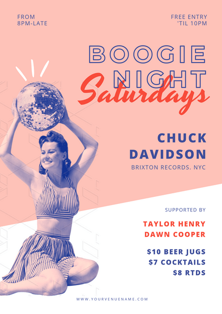 Boogie Night - Vintage Style Template