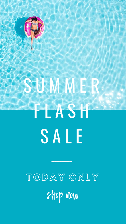 Summer Flash Sale with Pool Image