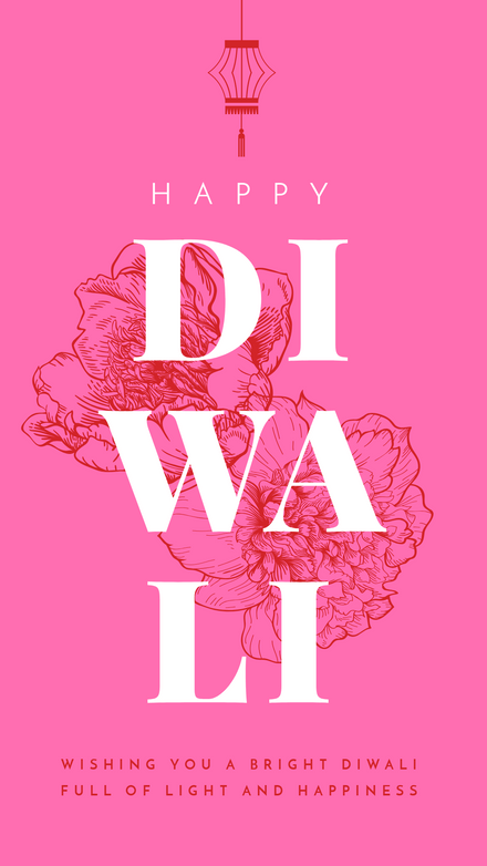 Diwali Greeting: Bright Floral