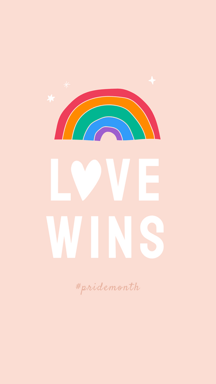 Love Wins Rainbow Graphic Template