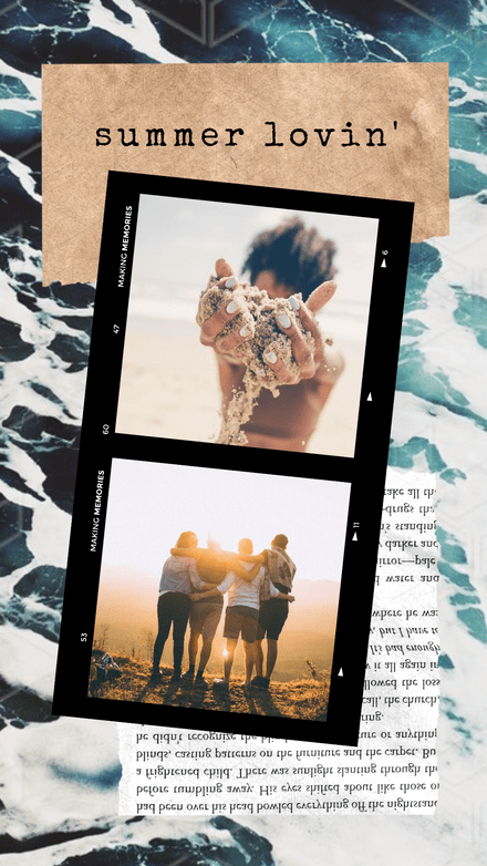 Collage: Summer Beach Photos