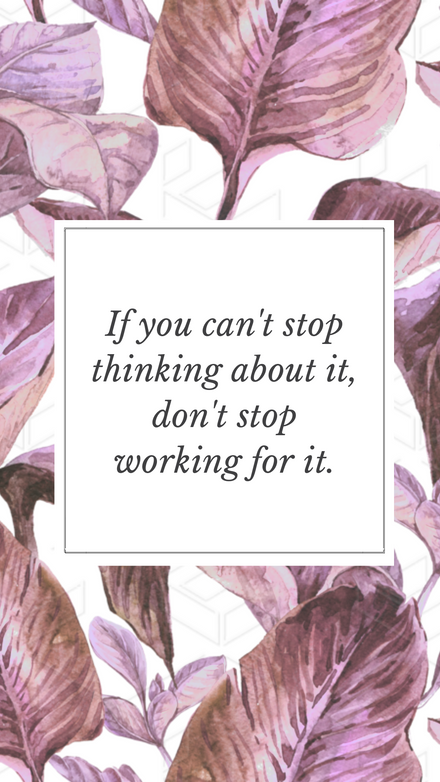 Motivational Quote Layout template with pink leaves in background