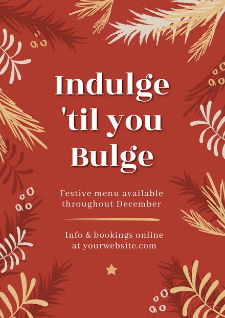 Indulge 'til you Bulge Christmas Template