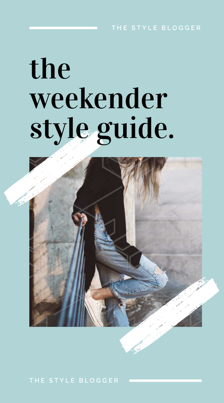 Weekender Style Guide pastel pink and blue with brush effect