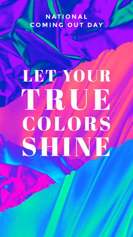True Colors - National Coming Out Day Template