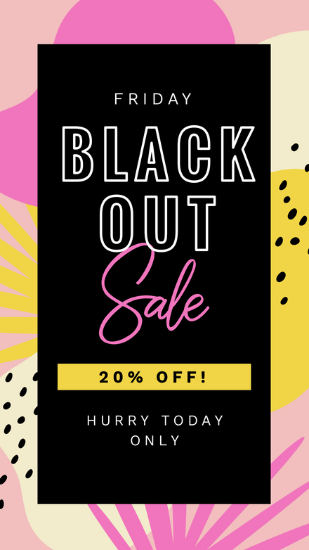 Black Friday Black Out Sale Graphic Template