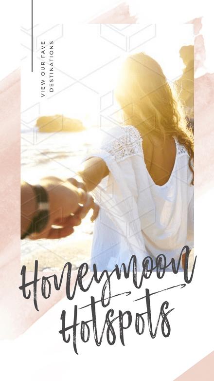 Watercolor Honeymoon Hotspots Template