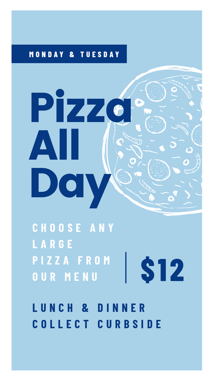 Bold Lines: Pizza Food Promo Template