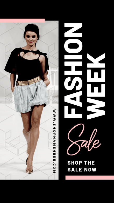 Fashion Week Sale - Black & Pastel Pink