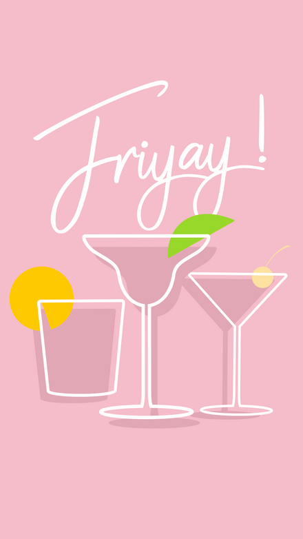 Friyay Drinks - Cocktail Illustrations Template
