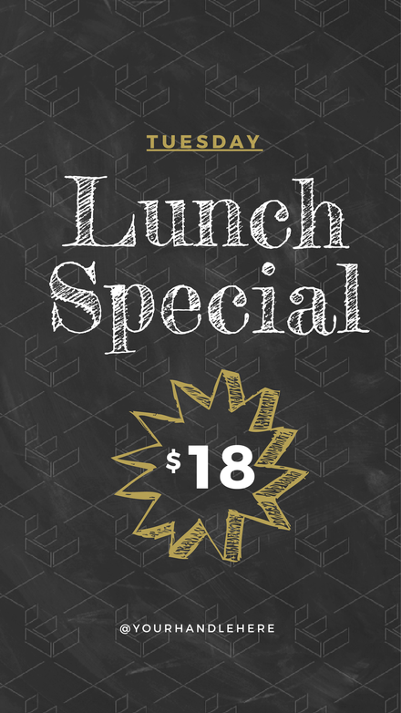 Chalkboard Background Lunch Special Offer