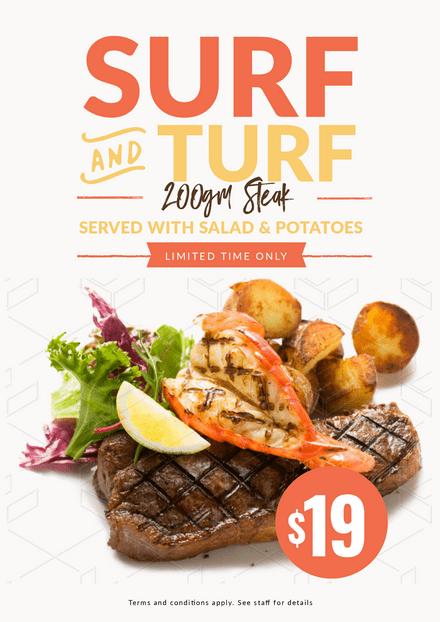 Surf & Turf Steak Promotion Template