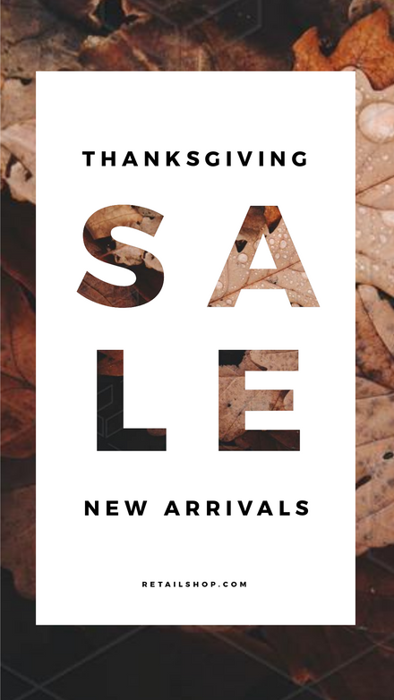Thanksgiving Sale Graphic with Text Mask