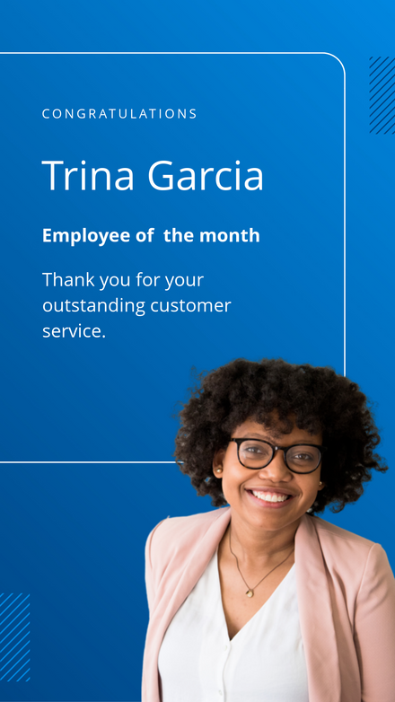 Employee of The Month Template with Gradient Background