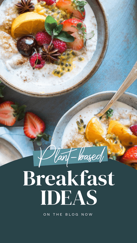Plant Based Breakfast Ideas Template