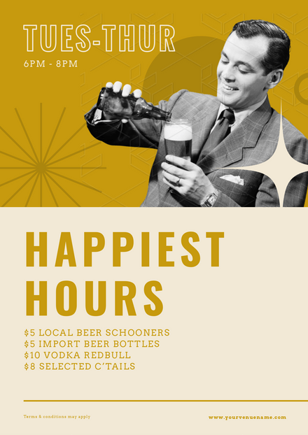 Happiest Hours - Vintage Style Template