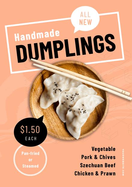 Handmade Dumplings Special Template