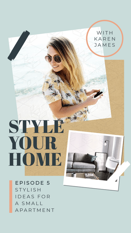 Style your Home IGTV Episode Cover Template
