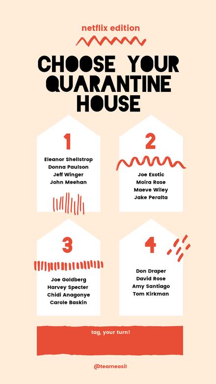Quarantine House Challenge: Black Red Squiggles