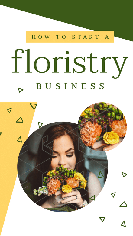 Floristry Business - Circles & Triangles Template