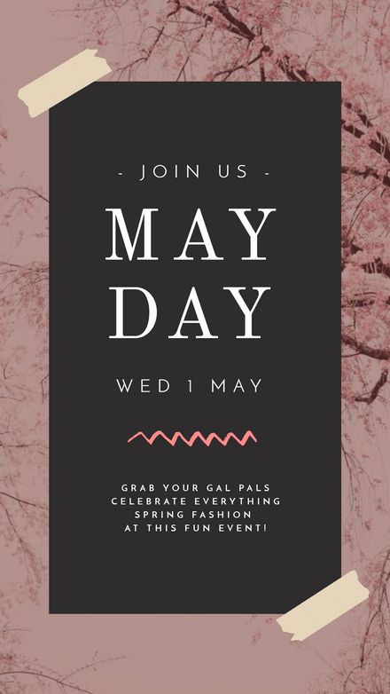 Pink May Day Event Template