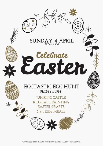 Celebrate Easter Eggtastic Egg Hunt with Gold Easter eggs