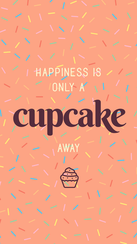 Happiness is only a Cupcake Away - National Chocolate Cupcake Day Graphic