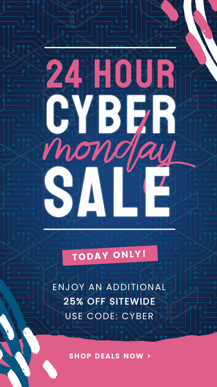 Cyber Monday Computer Theme Graphic Template