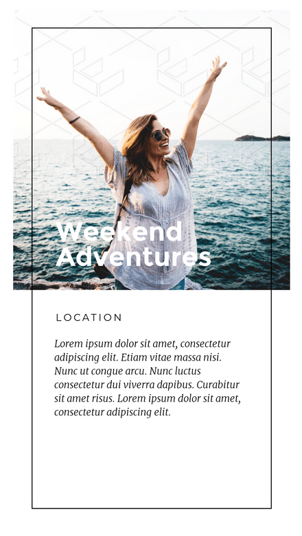 Weekend Adventures Instagram Story Template