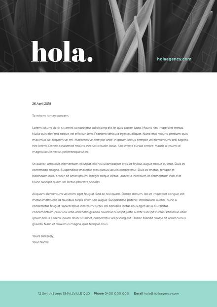 Hola Agency Letterhead