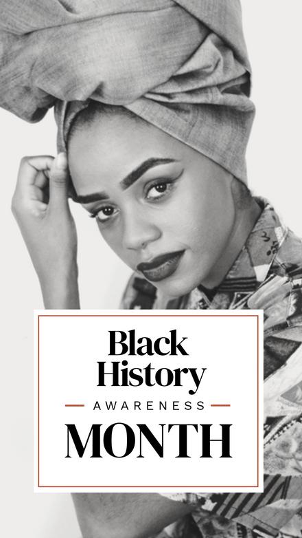 Black History Awareness Month Mono Image template