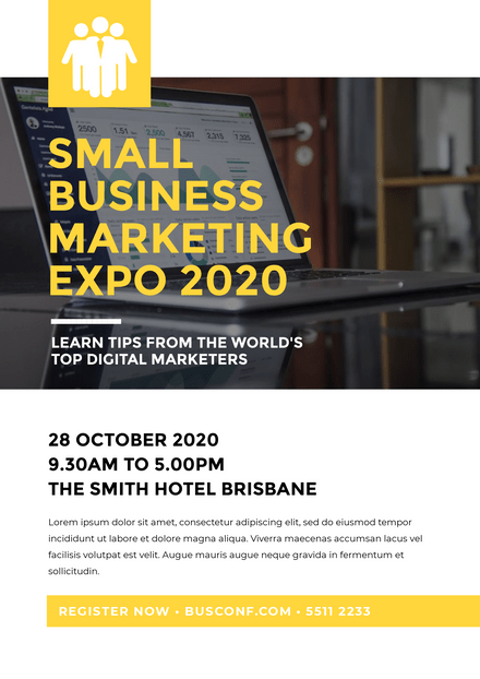 Small Business Marketing Expo Template