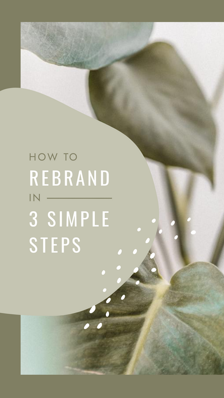 How to rebrand in 3 simple steps - Instagram Reel Cover