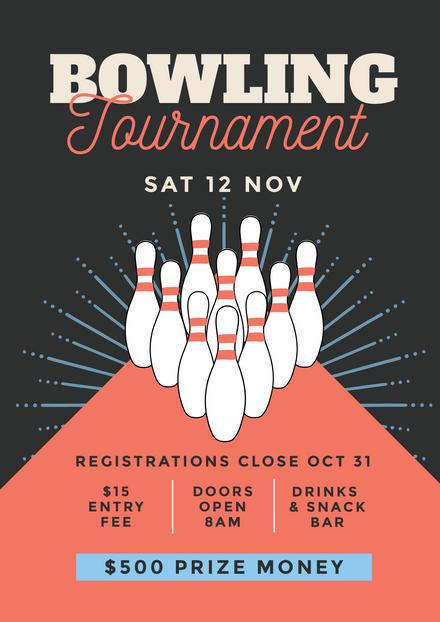 10 Pin Bowling Tournament Template