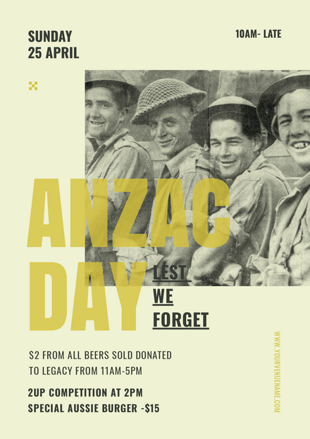 Anzac Day - Soldier  Mates Vintage Image