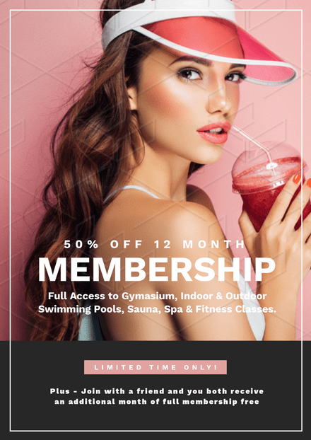 Health & Fitness Centre Membership Promotion Template