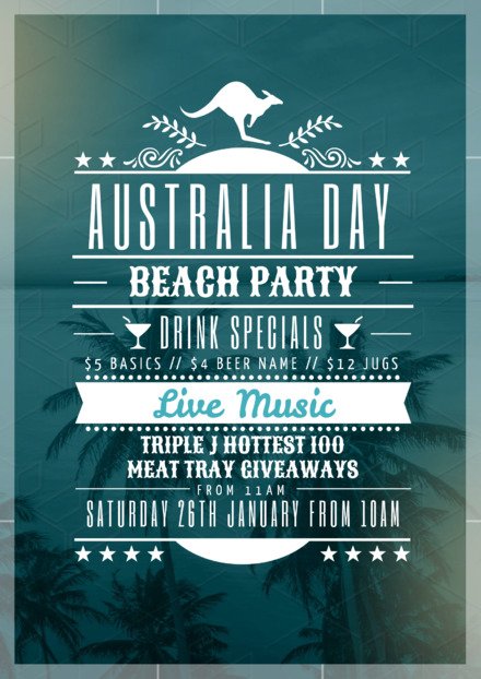 australia day beach party