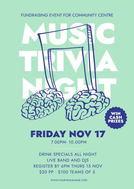 Music Trivia Night Graphic Template