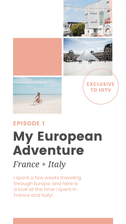My Adventure - IGTV Episode Cover Template