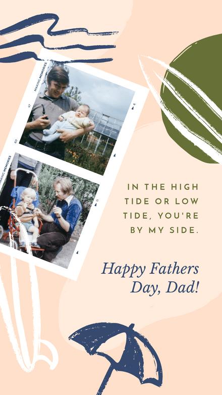 Fathers Day Polaroid: Beachy Blobs