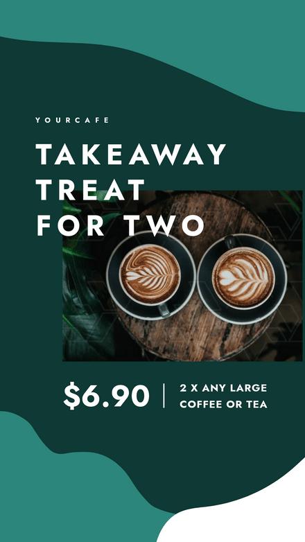 Takeaway Treat fo Two - Coffee Template