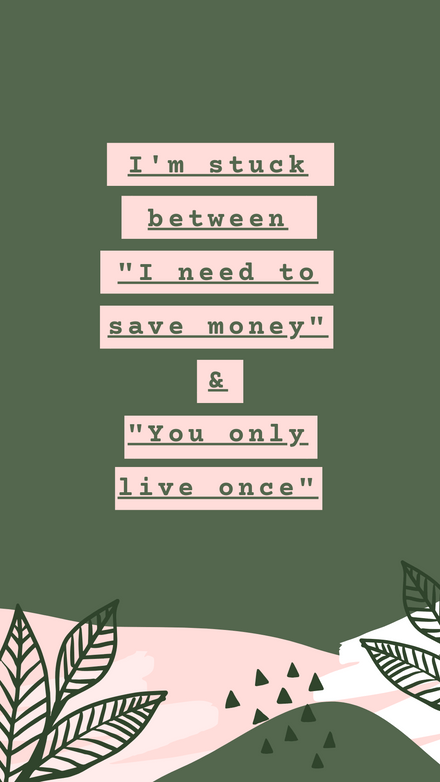 Green and Pink Quote