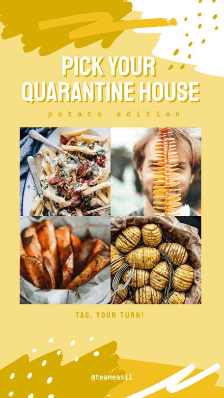 Quarantine House Potato Challenge: Yellow Brushes