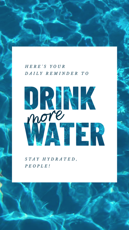 Drink More Water Reminder Quote