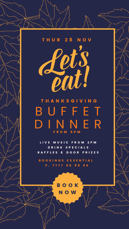 Let's Eat! Thanksgiving Event Design Template