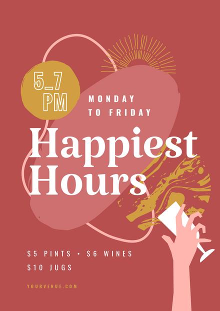 Organic Shapes: Happy Hour Drinks Promo