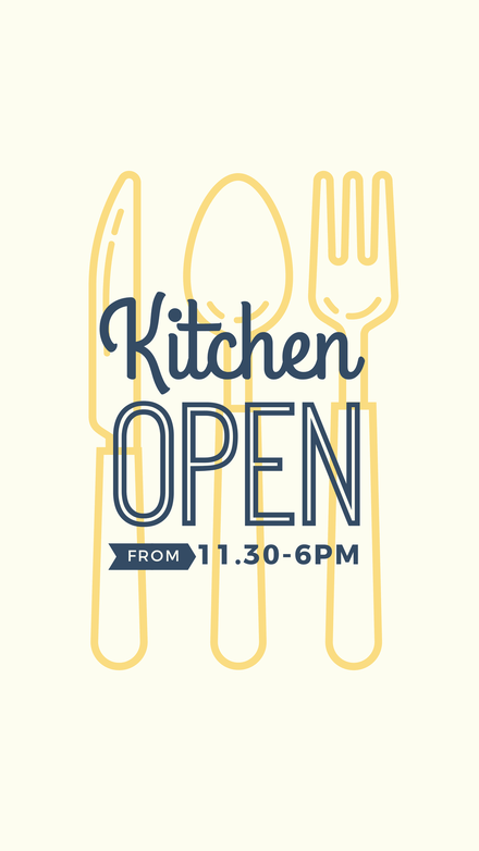 Kitchen Open All Day Template
